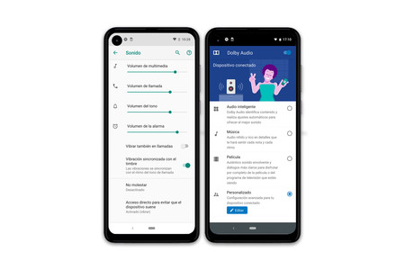 Motorola One Action Ajustes Audio