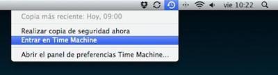 Consulta otros discos de Time Machine desde un único ordenador
