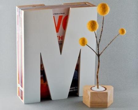 Revistero con forma de 'M', ideal para ordenar tu salón