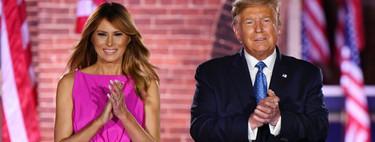 Melania Trump tiene el vestido de princesa (moderna) que muchas desearíamos: es rosa, midi y viene con volumen