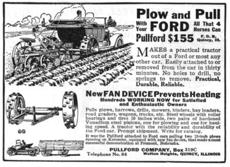 Pullford Auto To Tractor Conversion Advert 1918
