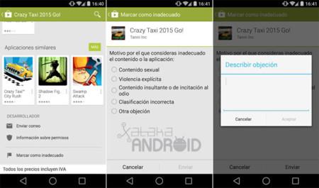 Reportar aplicaciones en Google Play