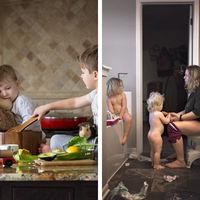 Las fotografías que muestran cómo es realmente el día de una madre