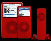 Un iPod caritativo en color rojo