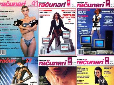 Auge y caída de 'Racunari', la revista de informática yugoslava de las portadas machistas