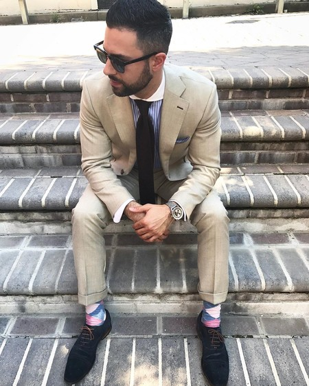 Tan Suit Men Street Style Beige Trendencias Hombre 16