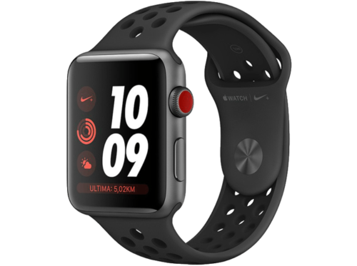 Apple Watch Nike Series 3 GPS + Cellular, 38 mm, Caja de aluminio, Gris Espacial