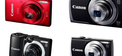 Canon IXUS 140, Canon PowerShot A3500 IS, PowerShot A2600 y PowerShot A1400