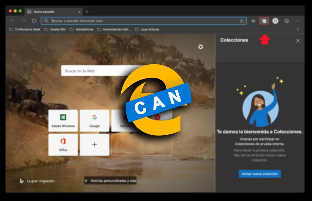 Edge se actualiza en el canal Canary perfeccionando las colecciones: ahora se pueden abrir todas las pestañas a la vez