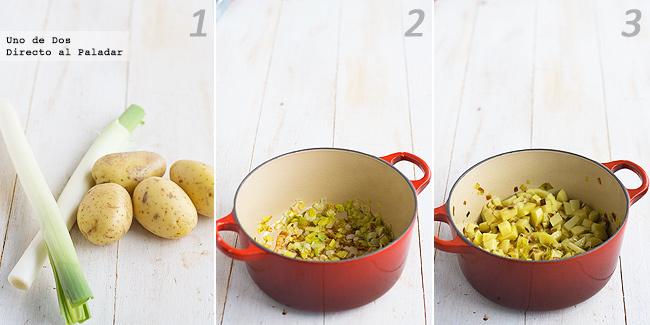 Receta de sopa de puerro y patata paso a paso