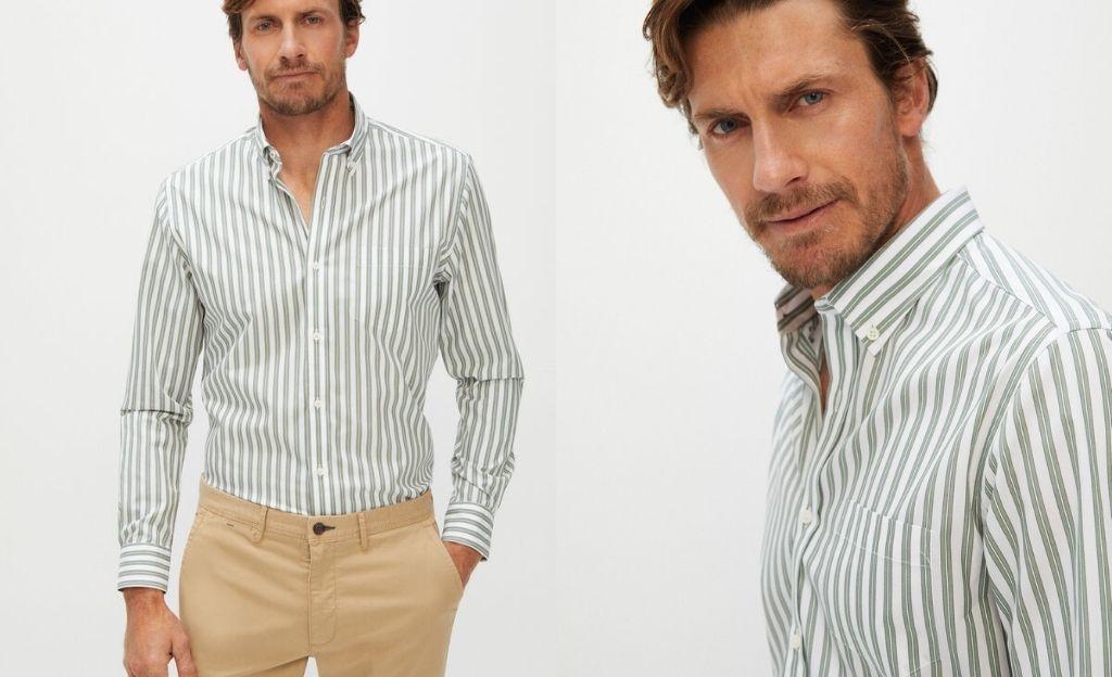 Camisa rayas algodón orgánico extra suave