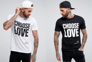 'Choose Love', la camiseta solidaria de Katharine Hamnett, Help Refugees y Asos