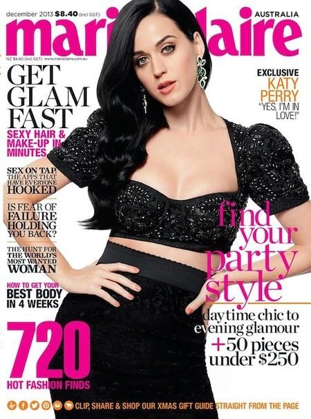 Katy Perry de luto y con cara de circunstancias para la Marie Claire: ¿hablará de algo serio?