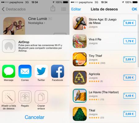 Lista de Deseos de la App Store