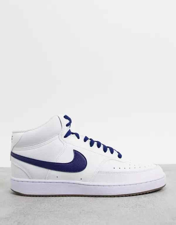 Zapatillas de deporte blancas Court Vision Mid de Nike