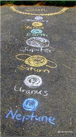Sistema Solar con tiza