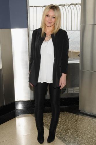Hilary Duff black white