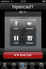 Skype iphone llamando