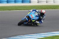 Suzuki concluye su test en Phillip Island contra tiempo y caídas