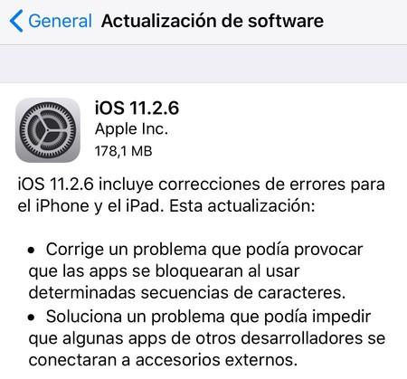 iOS 11.2.6 Applesfera corrige bug telugu