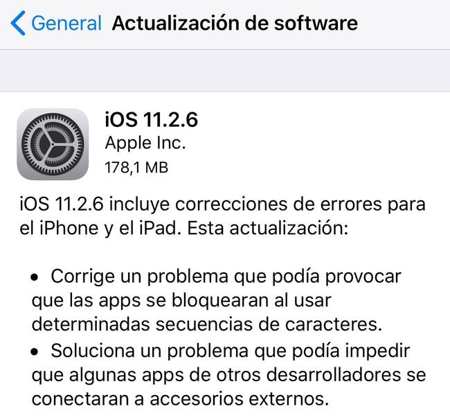 iOS 11.2.6 Applesfera corrige fallo telugu