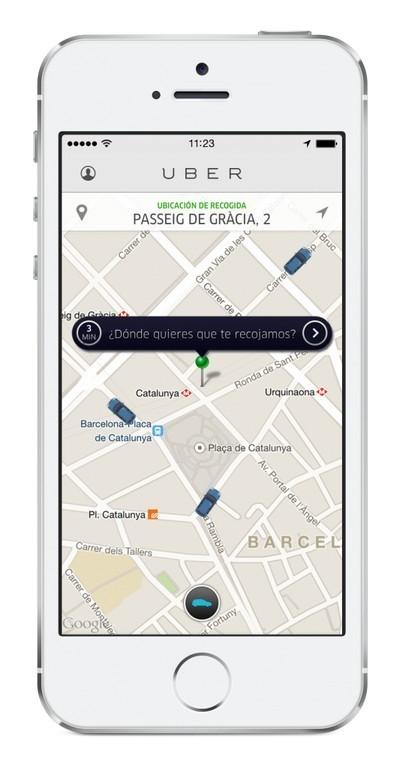 Uber aplicación