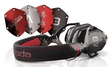 Auriculares V-Moda V-80 True Blood, con varias carcasas y logos de la serie