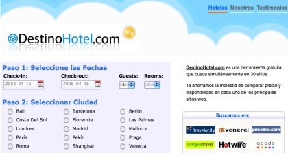 Búsqueda y comparación de hoteles con DestinoHotel.com