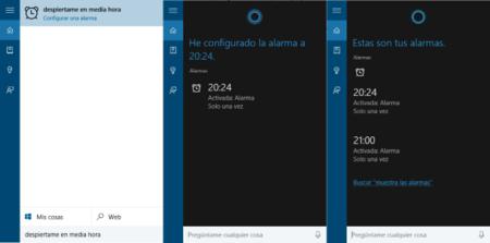 Cortana Alarmas