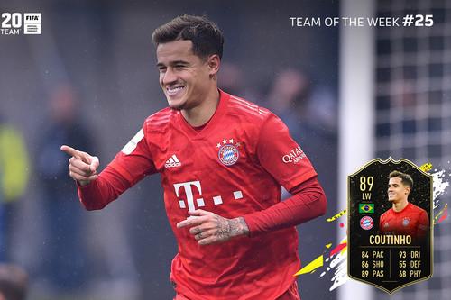 Guía FIFA 20. TOTW: equipo de la Semana 25, del 4 al 11 de marzo de 2020