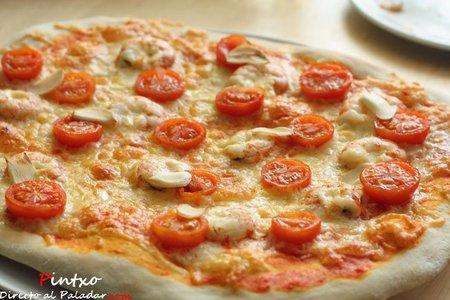 Receta de pizza de gambas al ajillo