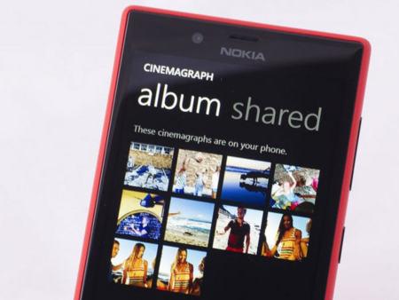 Frontal del Nokia Lumia 720