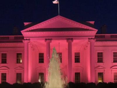 La Casa Blanca se viste de rosa para celebrar el mes de la prevención del cáncer de mama