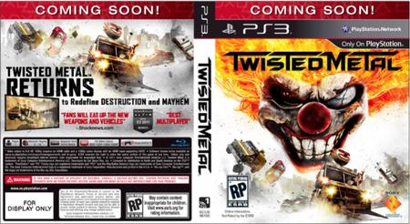 'Twisted Metal', David Jaffe nos enseña la que podría ser portada oficial y 5 versiones de la parte trasera