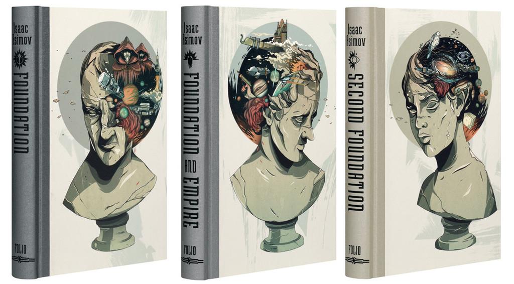 Fundación con portadas de Alexander Wells