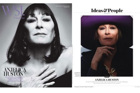 Angelica Houston es la portada del magazine de 'The Wall Street Journal',