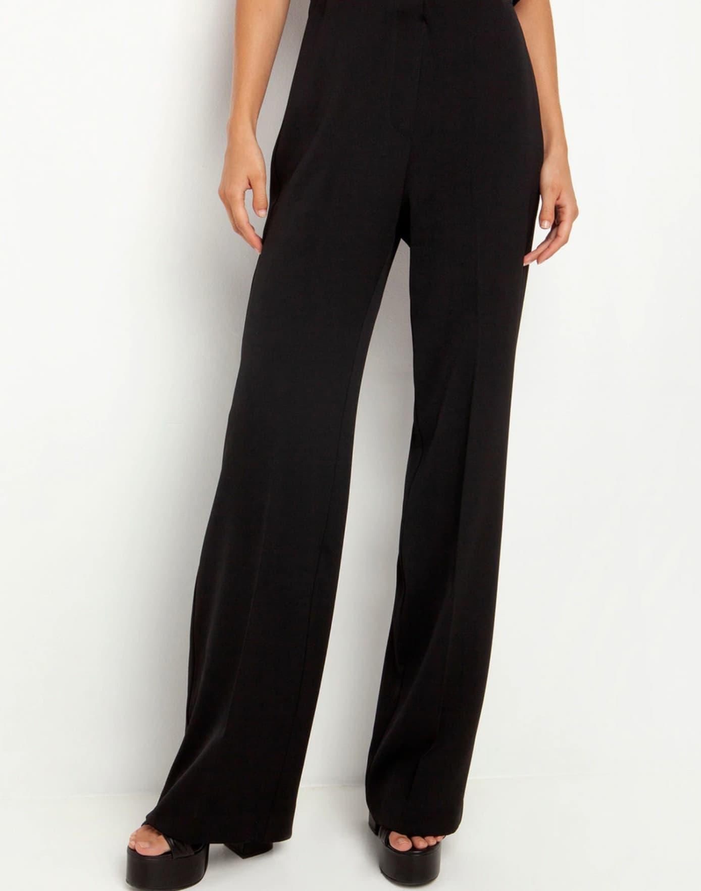 Pantalones de campana de mujer anchos con cintura alta