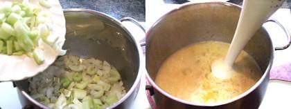 sopa de apio paso
