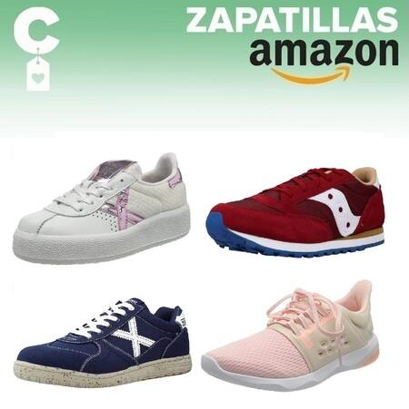Chollos en tallas sueltas de zapatillas Munich, Saucony o Asics por menos de 35 euros en Amazon