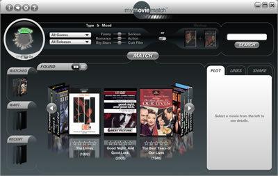 MyMovieMatch, elige películas por tí