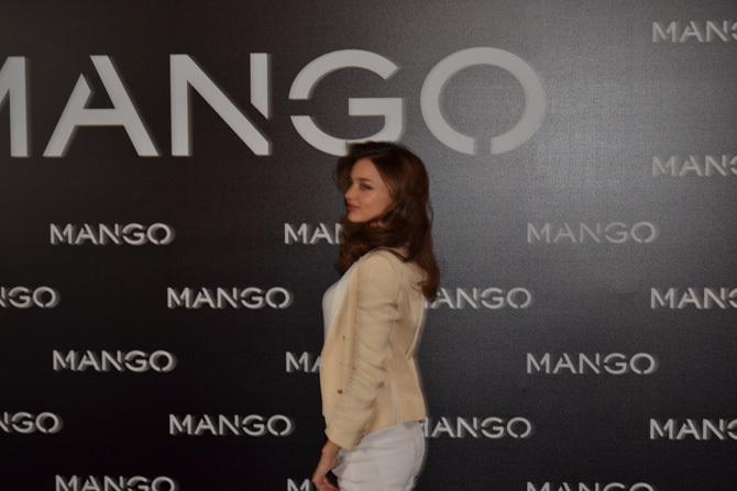 Foto de Miranda Kerr para Mango, rueda de prensa (10/16)