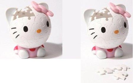 Hello Kitty y su cabeza hecha puzzle