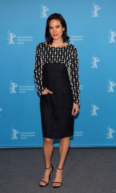 Jennifer Connelly en versión blanco y negro de Chanel para el Festival de Cine de Berlín