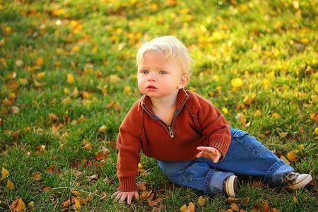 La foto de tu bebé en octubre: el bebé en otoño
