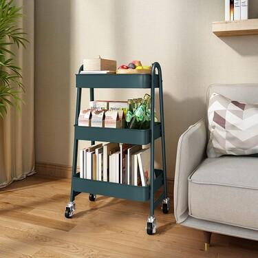 Este carrito es ideal para la cocina, el despacho, el dormitorio o el salón, cuesta menos de 40 euros y está con descuento