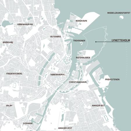 Mapa de Copenhague.