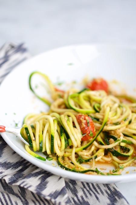 Noodles De Calabacita Con Tomate Pv