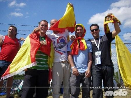 Españoles en Assen 2010