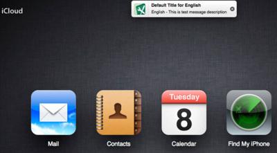 La web de iCloud podría incorporar pronto su propio sistema de notificaciones