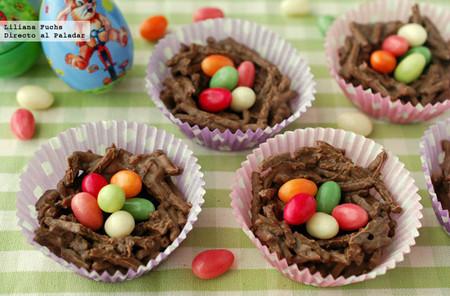 Nidos de Pascua crujientes de chocolate: receta o manualidad muy dulce para Semana Santa